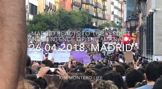 The Manada verdict protests 26.04.2018 Madrid.